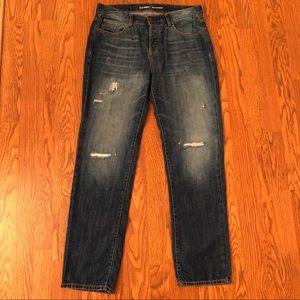 Old Navy Medium Wash Distressed Boyfriend Jeans 4